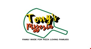Product image for Tony's Pizzeria $5 Off any orderof $25 or more