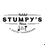 Product image for Stumpy's Hatchet House 20% Off 2-hour pit for 8 or more people