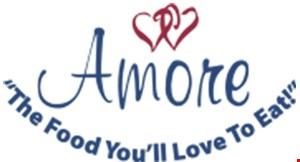Product image for Amore's Free glass of wine or bottled beer with the purchase of entree.