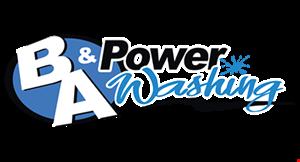 B & A Power Washing logo