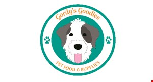 Product image for Gordy's Goodies Pet Foods & Supplies $5 off your total purchase of $25 or more.