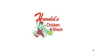 Product image for Harold's Chicken Shack $1 OFF any dinner.