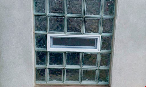 "Product image for Maier Glass Block $115 32""x 14"" window installed. $135 32""x 24"" window installed Fresh air vents, and dryer vents also available for additional charge, call for details."