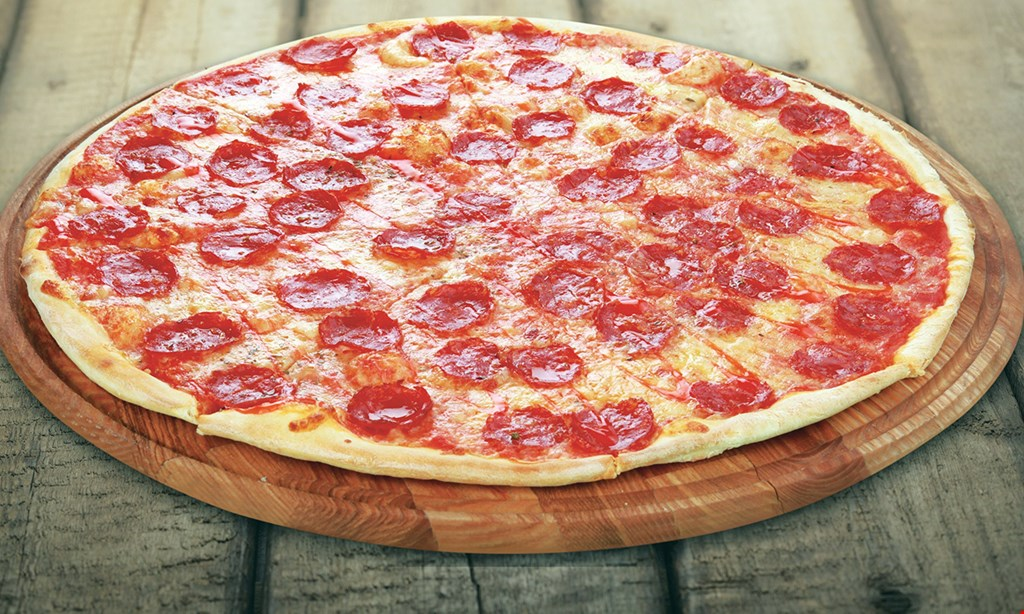 Product image for Sophia's Pizzeria $7.99 LARGE PIZZA choice of toppings may vary.