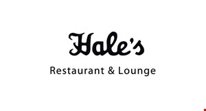 Product image for Hale's Restaurant - Hillsboro $10 OFF any purchase of $50 or more.