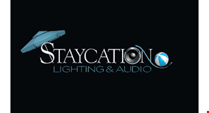 Product image for Staycation Lighting & Audio 10% off any lighting or audio package