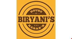 Product image for House of Biryanis & Kebabs $5 Off any purchase of $25 or more