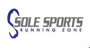 Product image for Sole Sports Running Zone $15 off purchase of a pair of running shoes