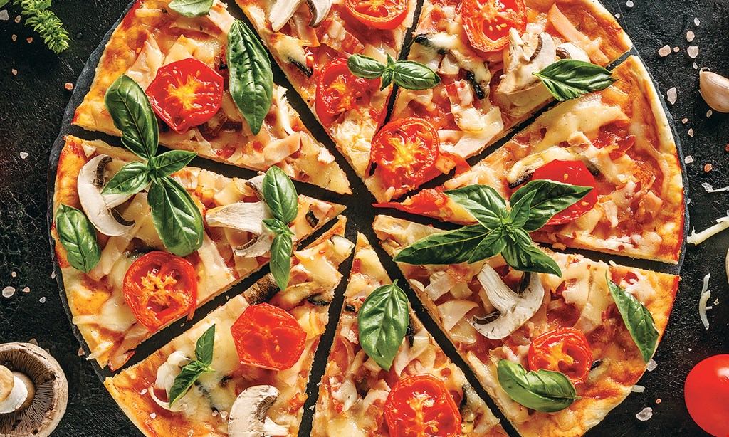 Product image for Pizza Cucina Of North Merrick $24.95 1 large pie, 1 penne ala vodka, 1 house salad, 12 Garlic knots