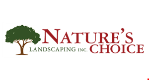 Product image for Nature's Choice Landscaping Inc. $350 off any landscape project or $500 off any landscape project