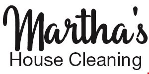 Product image for Martha's House Cleaning $30 off 1st cleaning. $40 deep cleaning.