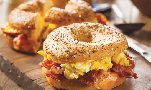 Product image for The Bagel Barn 50% Off sandwich buy one sandwich and get the second sandwich of equal or lesser value 50% off.