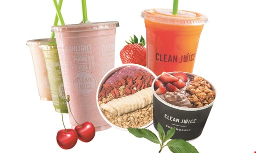 Product image for Clean Juice Free buy 1 new organic wrap and get 1 new organic wrap FREE.