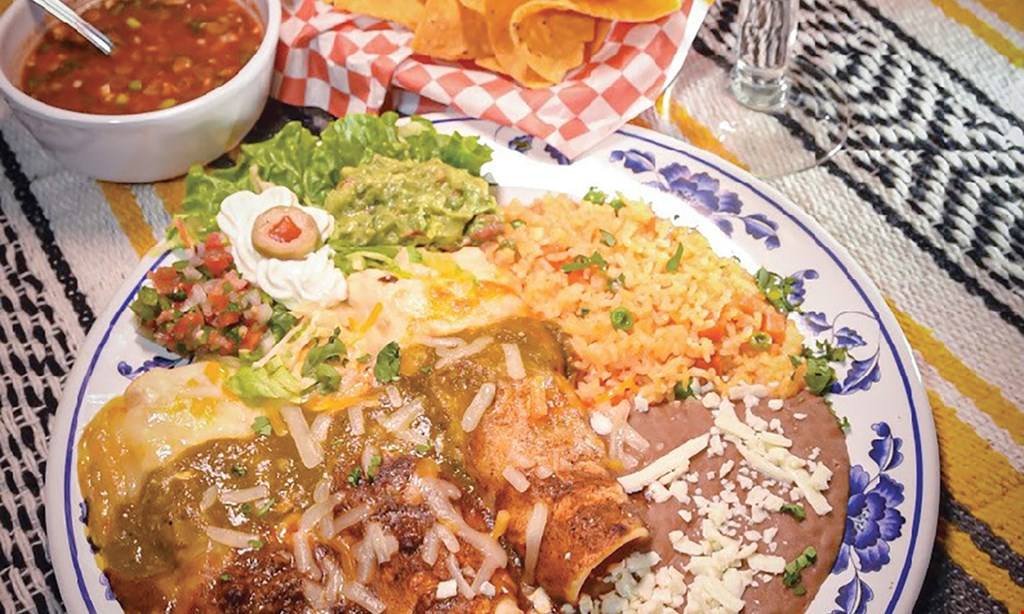 Product image for Garibaldi's Fine Mexican Cuisine $5 off $25 or more.