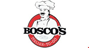 """Product image for Bosco's Italian Togo $15 14"""". $17 18"""" 1-topping pizza & 1 side of garlic bread sticks, cheesy bread sticks or any 2-liter Coke product."""