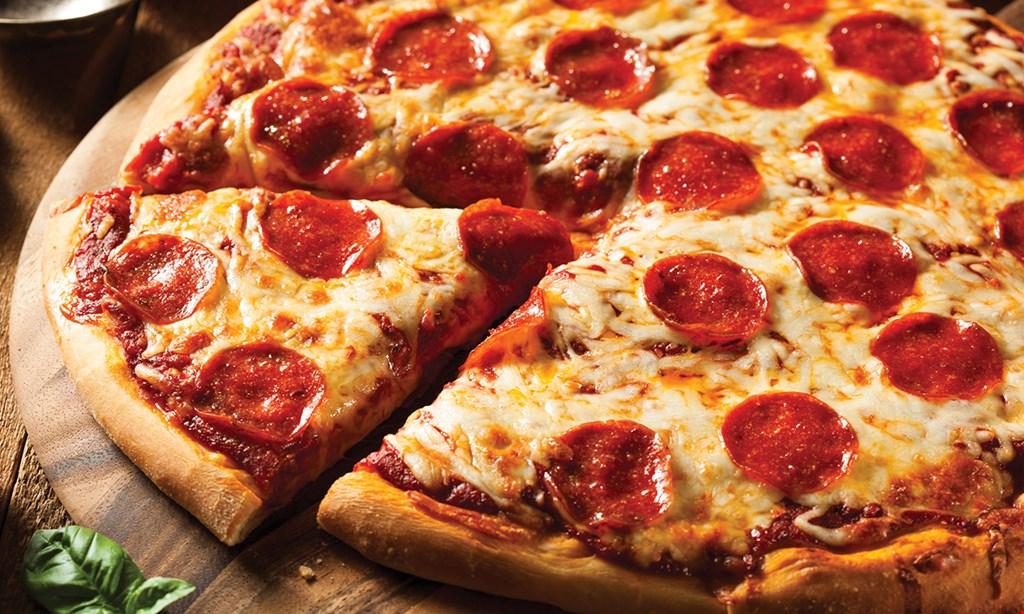 """Product image for Bosco's Italian Togo $20 18"""" pizza with 2 toppings & 8 wings"""