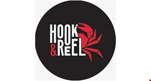 Product image for Hook & Reel FREE lunch entree Valid Mon-Fri noon to 4pm. Buy one lunch entree, get the 2nd one of equal or lesser value for free • max value $15.