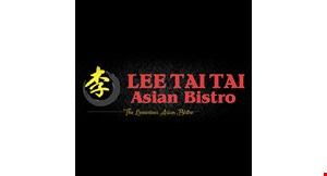 Product image for Lee Tai Tai Asian Bistro $5 OFF any purchase of $25 or more.