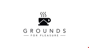 Product image for Grounds For Pleasure Coffee House $2 Off any purchase of $10 or more.