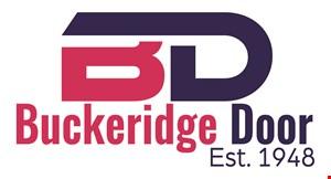 Product image for Buckeridge Door $200 OFF any double garage door.