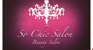 Product image for So Chic Salon 25% OFF any service new clients only.