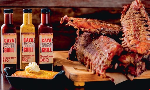 Product image for C.A.Y.A. Smokehouse Grill 10% OFF entire dine in bill dine in only • one per table.