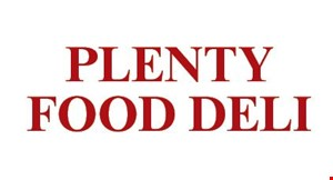 Product image for Plenty Food & Deli $10 For $20 Worth Of Casual Dining