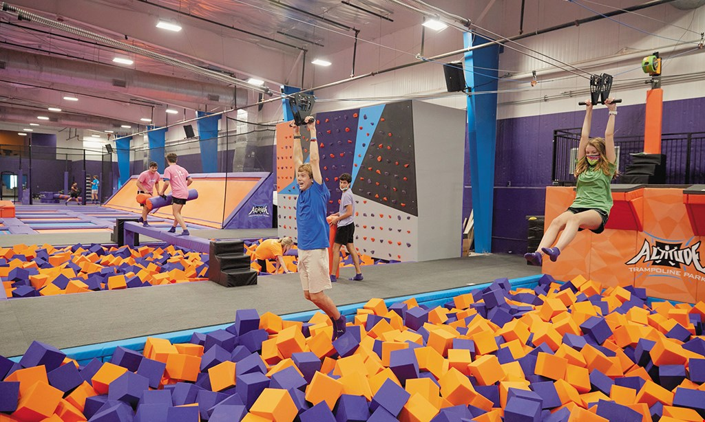 Product image for Altitude Trampoline Park FREE ICEE and Chips with purchase of 90 Minute Jump Time WITH PURCHASE OF ANY JUMP TICKET AT REGULAR PRICE.