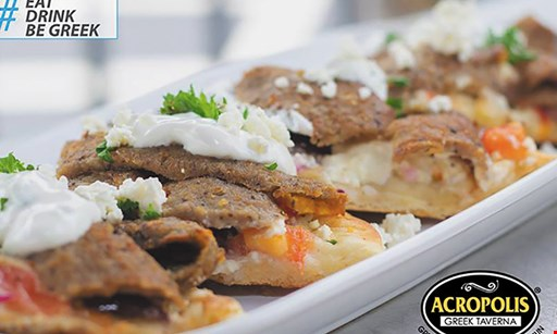 Product image for Acropolis Greek Taverna New Tampa FREE appetizer with purchase of any entree max. value $9.99.