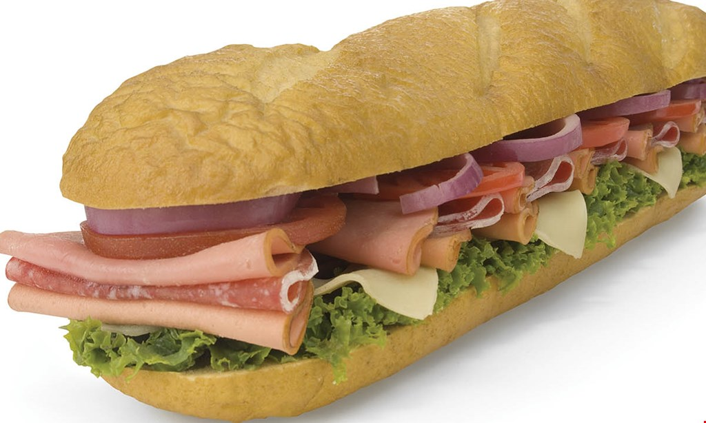 Product image for JERSEY MIKES SUBS Buy 2 giant subs, get the 3rd free of equal or lesser value.