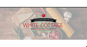 "Product image for White Cottage Pizza $1.00 off 12"" Pizza $2 off 14"" pizza • $3 off 16"" pizza • $4 off 18"" pizza • $5 off 20"" or Stadium pizza."