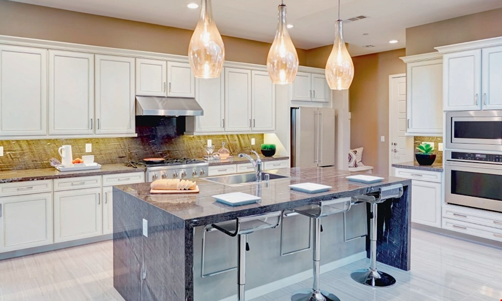 Product image for Granite Zone Kitchen And Bath Design Llc $3499 10x10 white or grey shaker cabinets, soft close 10-14 day turnaround.