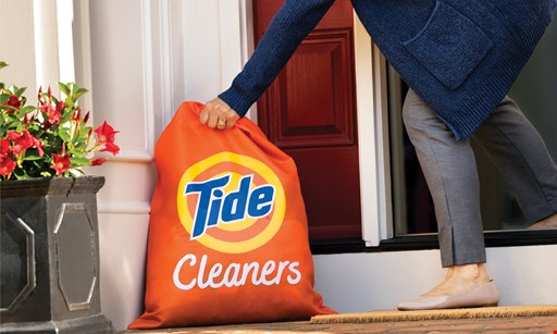 Product image for Tide Dry Cleaners 25% off delivery order. Offer valid only when coupon is presented at drop-off.