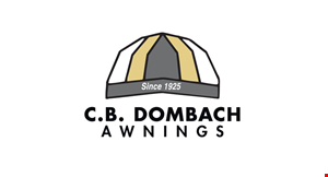 Product image for CB Dombach & Son $200 offan awning re-cover.