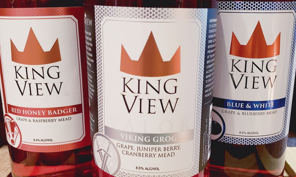 Product image for KingView Mead $3 5 oz glass pour ($2 savings ).