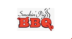 Product image for Smokin' Pig BBQ Sports Bar & Grill $5 OFF any purchase of $25 or more.