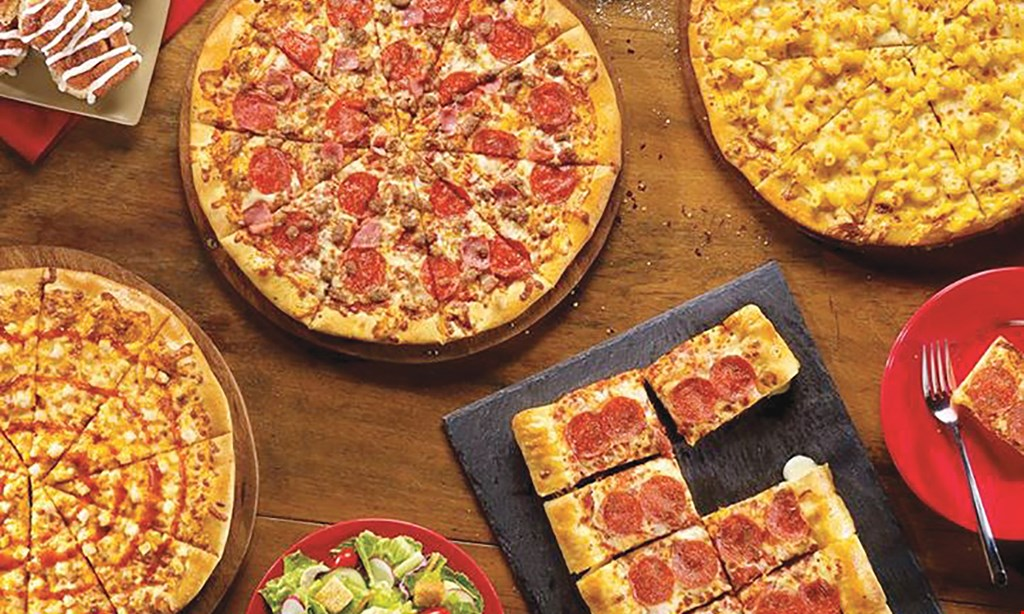 Product image for Cicis Pizza - Cleveland FREE Alfredo pizza with the purchase of 2 large pizzas 2 large 1 topping pizzas $5.99 each.