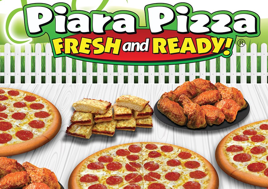 Product image for Piara Pizza Free 1 Order breadsticks with the purchase of any 2 large pizzas