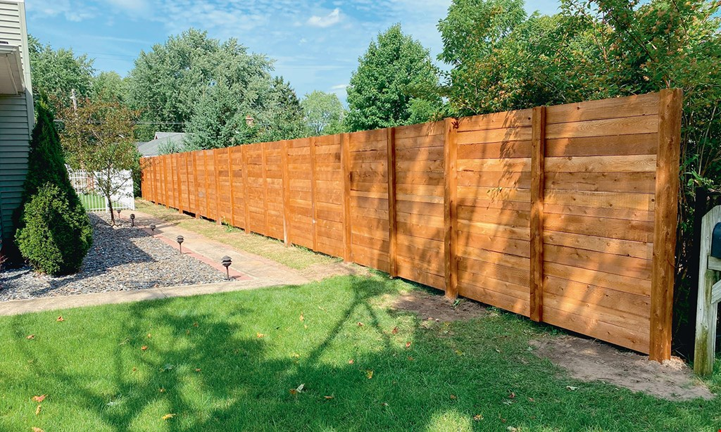 Product image for True Line Fence FREE gate with any wood fence over 200 linear feet