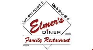Product image for Elmer's Diner $3 off any bill of $20 or more