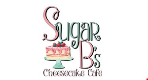 Product image for Sugar B's Cheesecake Cafe $2 OFF slice of cheesecake.