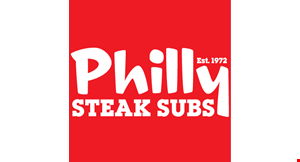Product image for Philly Steak Subs $5 OFF any purchase of $25 or more.