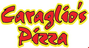 Product image for Caraglio Pizza $1 OFF $10.99 Pick-Up Special Large Cheese Pizza Monday & Tuesday Only Additional Toppings $1.50.