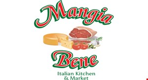 Product image for Mangia Bene Italian Kitchen & Market $10 off any purchase of $50 or more.