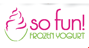 Product image for So Fun Frozen Yogurt 20% OFF any purchase.