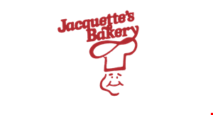 Product image for Jacquette's Bakery $1 off 1 dozen donuts, danish or cupcakes