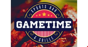 Product image for Gametime Sports Bar & Grille $10 OFF your food purchase of $50 or more.