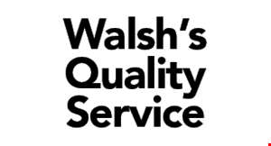 Product image for Walsh's Quality Service $10 OFF any detail.