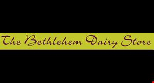 The Bethlehem Dairy Store logo