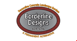 Product image for Borderline Designs $100 OFF the purchase of 120 ft. or more of concrete edging.